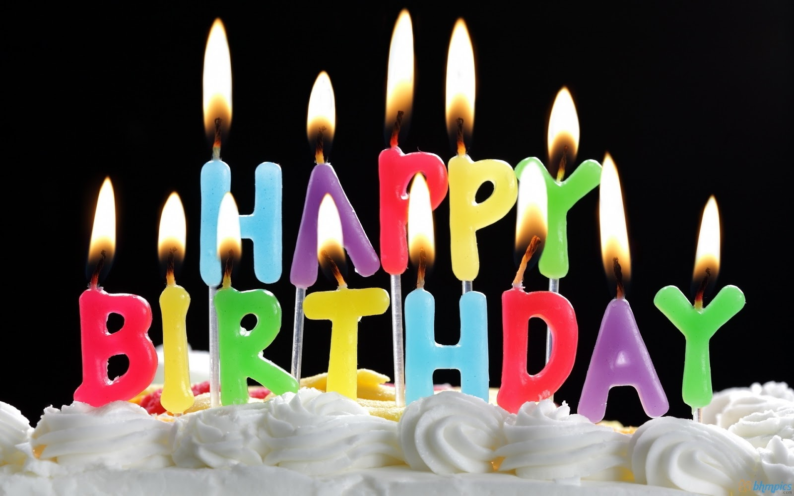 Candles On A Birthday Cake Fully Image