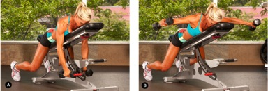 Seated reverse flyes, from Oxygen Magazine